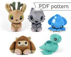 peryton plush sewing pattern mythical winged deer soft toy stuffed