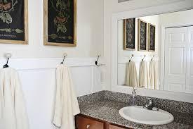 How To Frame Bathroom Mirror Diy Framed Bathroom Mirrors Liz
