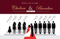 Custom Wedding Programs Silhouette Wedding Programs U2013 Custom Silhouette Wedding Programs