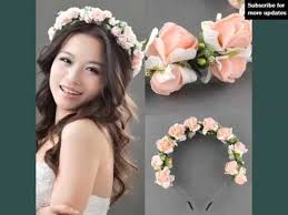 flower hair band wedding decorative pics flower hair band