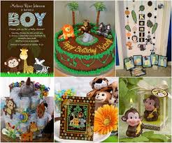 Wild Safari Blue Baby Shower by Jungle Themed Baby Shower Ideas Chocolate Green Theme Baby