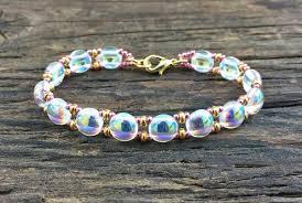 bead bracelet kit images Sweet candy beaded bracelet kit with 2 hole glass beads crystal jpg