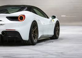 ferrari coupe rear white ferrari 488 gtb adv05 track spec cs series wheels 20x9 5