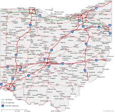 cities map map of ohio cities ohio road map