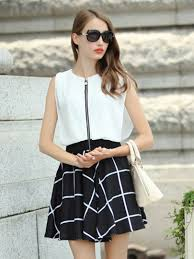 official undoubtedly choice color block front zipper chiffon top