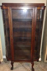 china cabinet for sale antique tiger oak curved glass curio china