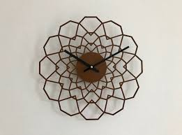 Wooden Wall Clock Silent Hand Made Wood Wall Clock Laser Cut Clock Wooden