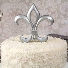 fleur de lis cake topper silver fleur de lis cake topper theme cake toppers wedding