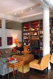 Bookshelves Nyc by Painted Interior Bookshelves Gray Orange Palette In Nyc U2026 Flickr