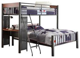 Homelegance Division Twin Full Loft Bed In Light Graphite Bunk - Meaning of bunk bed