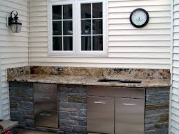 exterior kitchen cabinets outdoor kitchen cabinet stone landscaping backyards ideas