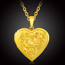 valentines necklace aliexpress buy locket necklace women gold color jewelry