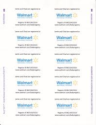 baby registry cards since walmart now requires you to pay for registry inserts and i