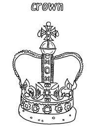 design king crown princess crown coloring netart