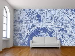map mural custom map wall murals by wallpapered design