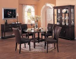 dark brown round kitchen table dining room interesting picture of dining room decoration using