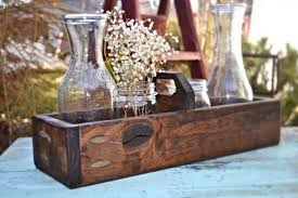 Wooden Centerpiece Boxes by Rustic Wood Box Centerpiece Rustic Wedding Centerpiece Spring