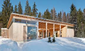 shed roof house designs 4 season timber cottage built by a single carpenter