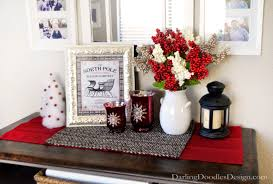 impressive design ideas of christmas table arrangements with red