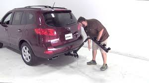 hyundai santa fe 2009 review review of the pro series eclipse 4 hitch bike rack on a 2009