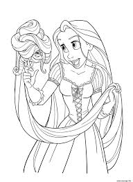coloriage raiponce princesse disney avec pascal dessin