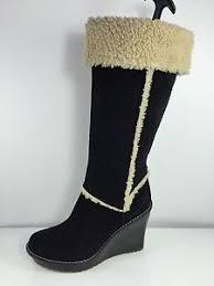 womens black leather boots australia ugg australia womens black leather boots 10 ebay