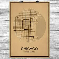 Map Room Chicago Online Get Cheap Vintage Chicago Map Aliexpress Com Alibaba Group