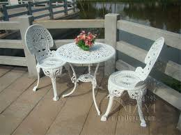 Metal Patio Chair Popular With White Metal Patio Furniture 14 Image 9 Of 15