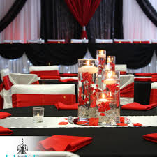 red and white table decorations for a wedding head table decor luxe weddings and events part 2