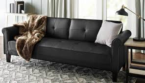 Faux Leather Futon Cover Futon Comfortable White Fluffy Area Rug And White Window Paint