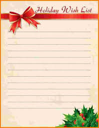 christmas wish list 5 christmas wish list template receipt templates