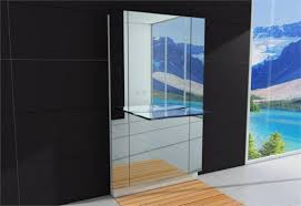 Big Bathroom Mirror Large Bathroom Mirror With Integrated Glass Sink Water Lounge