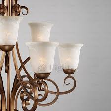 Shabby Chic Candle Sconces 9 Light Glass Shade Two Tiered Shabby Chic Chandelier