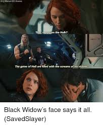 Black Widow Meme - ig ii marveldcscenes thor report on the hulk 1ems07 02 the gates of