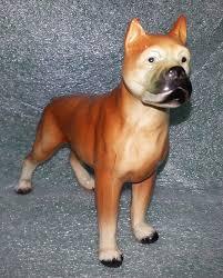 american pitbull terrier figurines vintage ceramic boxer dog figurine japan ceramic dogs