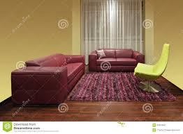 dark red leather sofa dark red living room stock image image of carpet contemporary