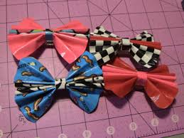 How To Make Duct Tape Bow Hair Clips Youtube