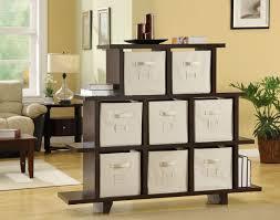 Living Room Shelf Unit by Living Room Unique Divider Ideas Nice Dark Brown Varnished Wood