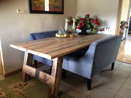 how to make a dining room table from reclaimed wood