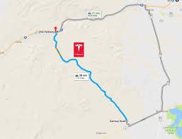 map usa parkway tesla gigafactory usa parkway map teslarati