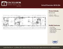 schult floor plans schult riverside singlewide 8016 204 floor plan excelsior homes