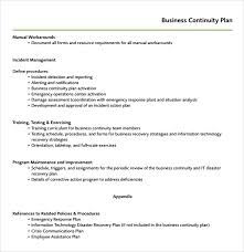 sample continuity plan template 7 free documents download in
