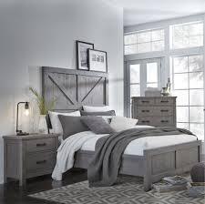 Rustic Contemporary Gray Rustic Contemporary 6 Piece Queen Bedroom Set Austin Rc