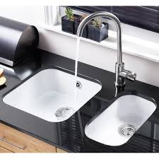 Large Kitchen Sinks Sinks Faucets Astracast Lincoln Bowl Round Gloss White Ceramic