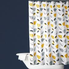 Yellow White Curtains Bathroom Interior Yellow Black And Gray Curtain For Shower Grey