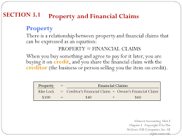 3 property financial claims