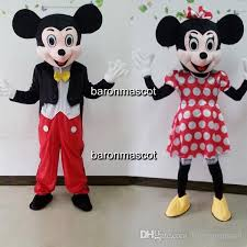 couple mickey minnie mouse mascot costume party clothing mickey