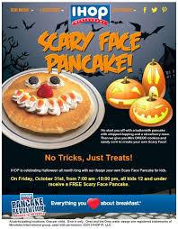 Pancake Halloween Costume Montebello Mom Free Scary Face Pancake Halloween Ihop