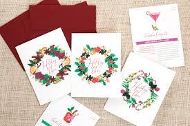 festive recipe holiday cards u2014 three little words