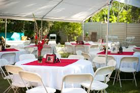 round table decorations backyard party decorations combined with round tables in distinct